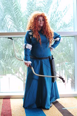 Merida - Brave (Anime Indian) Tags: woman girl beautiful pretty cosplay disney redhead merida bow pixar convention brave arrow cosplayer sabotencon saboten2015 sabo2015
