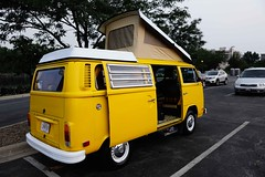 Blast from the past! (psbell2) Tags: color yellow volkswagen aurora van carshow vwvan aurorail