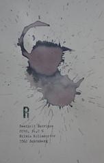 Arbeit 22 (Harald Reichmann) Tags: waldviertel kamptal schönberg wein rotwein zweigelt barrique 2010 signatur verteilung muster farbe alkohol visualisierung r arbeit papier kraft energie arbeit22 text information möglichkeit