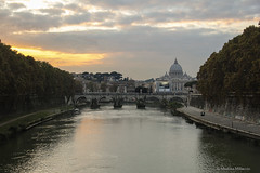 Tramonto su San Pietro. (MartinaSophia) Tags: city travel bridge light sunset sky italy rome color roma water beautiful clouds canon wonderful river landscape photography photo reflex amazing italia tramonto magic fiume panoramas pic ponte photograph tevere fotografia acqua sanpietro colori attimi architettura luce paesaggio emozioni allaperto