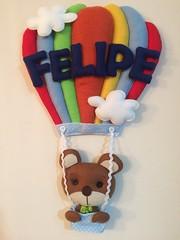 Guirlanda do Beb (Pina & Ju) Tags: cores handmade artesanato balo guirlanda nuvens bebe beb feltro patchwork maternidade ursinho arcores nenino