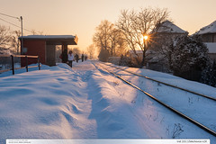 tra 331 | Zelechovice n.D. (jirka.zapalka) Tags: morning winter snow train czech stanice trat331 zelechovice