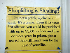 Shoplifting sign, Do-It Center, Burbank, California, USA (gruntzooki) Tags: california ca usa signs sign cali shoplifting la losangeles cal burbank theft