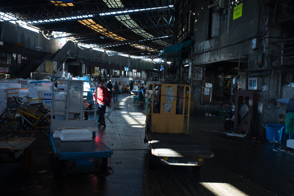 FIsh market in the morning