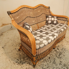Conservatory Wicker Sofa (Molly Dog Antiques) Tags: gardenfurniture patiofurniture antiquefurniture wickerfurniture wickersofa conservatoryfurniture