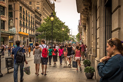 The Streets Of Barcelona (memfisnet) Tags: street travel people spain ngc human barselona canon600d