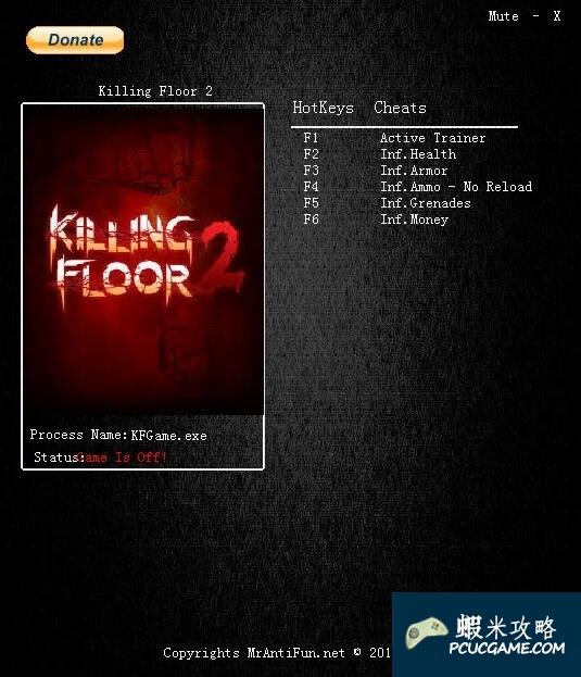 Killing Floor 2 v1016五項修改器MrAntiFun版