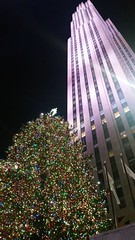 Rockefeller Center Christmas Tree (Joe Shlabotnik) Tags: cameraphone christmas nyc newyorkcity tree manhattan rockefellercenter christmastree 30rock gebuilding rcabuilding 2015 comcastbuilding galaxys5 december2015
