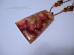 Autumn Mokume Gane II (LynzCraftz) Tags: polymerclay resin pendant jewelry necklace oneofakind handmade