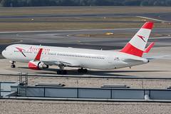 OE-LAZ / Austrian Airlines / Boeing 767-3Z9(ER)(WL) (Charles Cunliffe) Tags: canon 7dmkii aviation vienna international airport loww vie austrian airlines os aua boeing 767 767300er oelaz