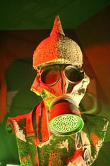 Gas (frankieleon) Tags: gasmmask ww1 war worldwarone german belgium flandersfield protection toxic chemical breath death agent agents sulfur mustardgas toxin virus hazard police tear helmet warfare ypres eerie scary hiding hide behind
