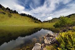 Lac de Joux Plane (Excalibur67) Tags: nikon d750 sigma 1224f4556iidghsm paysage landscape lacs mountain montagne alpes reflets reflexion ciel sky nature nuages cloud