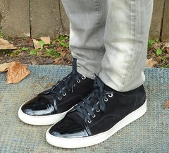 Lanvin Suede and Patent Leather Sneaker (Michael A2012) Tags: shoes sneakers lanvin suede patent leather lining