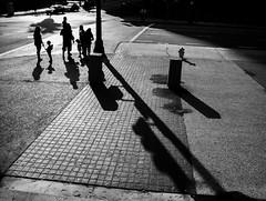 Downtown Los Angeles. July 2013. (ivan jurado) Tags: losangeles downtown blackandwhite leica digilux2 family silhouette shadows