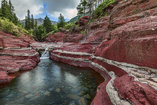 Red Rock Canyon, Waterton Lakes NP, Alberta Canada