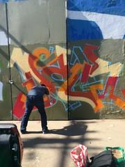 DAGR in progress... (Bsie, US) (Jonny Farrer (RIP) Revers, US, HTK) Tags: reversgraffiti uscrew halt reb voider voidr devo rvs revers htk us htkgraffiti usgraffiti sfgraffiti sanfranciscograffiti bayareagraffiti graffiti typography handstyles jonnyfarrer bsee bsie busy