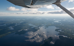 Glassy Lake (Ben_Senior) Tags: thunderbay ontario canada inflight aerial landscape city rural wilderness mountain plateau lake northernontario north river bensenior clouds nikond7100 nikon d7100 aviation flying flight pilot pilots ppl