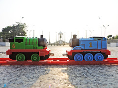 Thomas and Percy Meet at Pondicherry (pondicherry arun) Tags: thomasfriends thomas kevin victor bash percy toy train pondicherry puducherry pondicherryarun