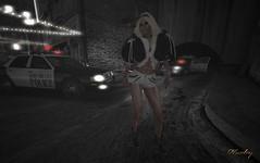 Dead End City (harleyjane44er) Tags: secondlife sl sex busty blonde boobs boots police pornstar harley fur leather