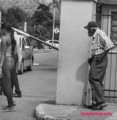 As Time Goes By... (Halcon122) Tags: man pretty young woman old street streetphotography candid bw kingston ja olympusem5markii