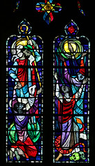 Prayer in Humility (Lawrence OP) Tags: washingtondc national cathedral stainedglass prayer goodshepherd jesus