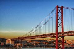 Lisbon - 44 (orciel95) Tags: panasonic lumix dmc tz100 lisbon lisboa lisbonne ville town port harbor bateau boat sea water architecture eau front de mer extrieur horizon pont bridge du 25 avril april structure btiment gomtrique infrastructure