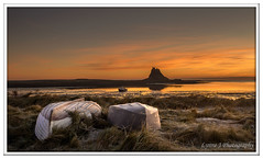 Frosty Boats at Lindisfarne (Blondie606 Photography) Tags: bamburghcastle sunrise sunset northumberland beach sea steetlypier longexposure lighhouse newcastlequay pastel frosty golden boats chemicalbeach seaham hartlepool