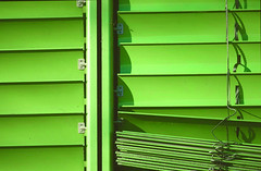 blinds (karldue) Tags: blinds green window karldue abstract
