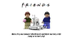 chandler&joey (Central perk lego ideas) Tags: win chandler joey matthewperry mattleblanc dog statue friends legoideas legomoc lego legostagram legoworld tvshow nbc minifigure minifigures
