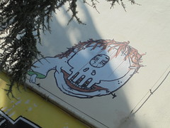 144 (en-ri) Tags: modena wall muro graffiti writing testa head faccia face viso volto nero marrone verde