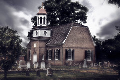 the eve will be soon upon us (alexandratsuruta) Tags: church historic northeast maryland cecilcounty stmaryannes architecture brick graveyard tombstones halloween sliderssunday