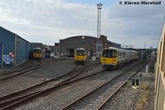 2810+2809, 2807+2808, 2805+2806 at Limerick, 22/10/16 (hurricanemk1c) Tags: limerick railways railway train trains irish rail irishrail iarnrd ireann iarnrdireann 2016 class2800 commuter tokyucarcorp 2810 2807 2805