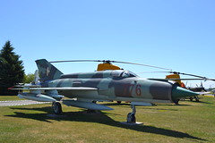 MIG-21F Fishbed (jc nadeau) Tags: rcaf museum aircraft canada canadian air force trenton ontario mig 21 gdr airport cfb helicopter