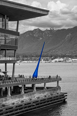 Vancouver, British Columbia, Canada (April 2016) (*Ken Lane*) Tags: can geo:lat=4928937813 geo:lon=12311419845 geotagged vancouverwaterfrontcoalharbourcanadaplace westend bc britishcolumbia britishcolumbiacanada canada canadiancity canadianseaportcity cityofvancouver ciudad coastalseaportcity gastown kanada northamerica pacificnorthwest seaportcity stad stadt vancouver vancouverbc vancouverbritishcolumbia vancouverbritishcolumbiacanada vancouvercanada vancouvercity vancouverite westcoast yvr               sculpture publicart bonvoyageplaza burrardcorridor ingesidee raindrop thedrop vancouverconventioncentre