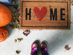Happy Sunday (life stories photography) Tags: instagramapp square squareformat iphoneography uploaded:by=instagram 2016 me feet home iphone fall autumn october fromwhereistand front porch frontporch pumpkins ohio leaves maryjanes argylesocks