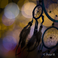 Attrape-rêves (Peter H. Photographie) Tags: attraperêves dreamcatcher bokeh nuit night couleur color samyang 85mm14 sony a580