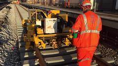 Fastclip Mk4 clipping up machine. (P Way Owen) Tags: underground london latimerroad fe plant track machine clip fastclip