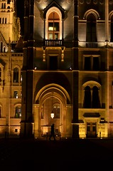 Budapest (ffruzsi.) Tags: budapest buda pest architecture night evening dark light window man building parliament imre orange black lamp shadow nikon d5100 winter fall autumn urban photography city europe hungary steindl walk