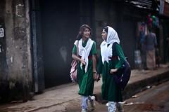 Sweet Nerds O' Mine (N A Y E E M) Tags: girls students friends candid portrait afternoon street ashkardighirpar chittagong bangladesh windshield