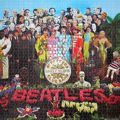 The Beatles (pefkosmad) Tags: jigsaw puzzle leisure hobby pastime 1000pieces complete square sgtpepperslonelyheartsclubband beatles group 1960s band pop lp album cover peterblake popart music disc record
