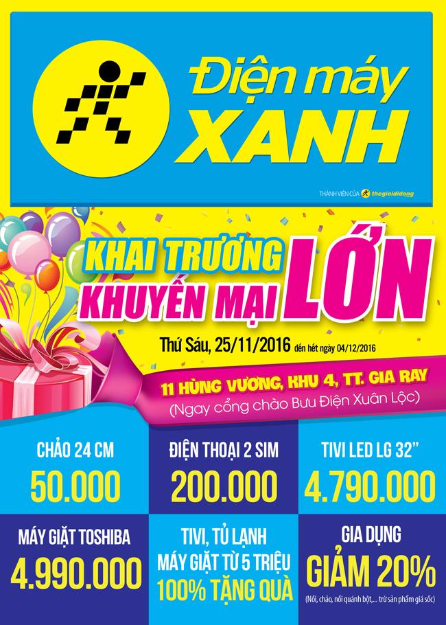 Khai trương siêu thị Điện máy XANH Gia Ray, Đồng Nai