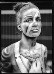 Maskerade 2016/3 (Jürgen Hegner) Tags: schwarzweis jürgenhegner nikkorw240 portrait analog shenhaofcl57a shenhao fuji largeformat xrayfilm xray 13x18cm blackandwhite bw