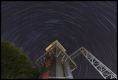 Drill tower star trail (Thomas Winstone) Tags: fireservice drilltower stars sky night trails canon canonuk canon1dxmark2 canon1dxii 1124f4 canon1124f4 canonllens wales longexposure startrails polaris nightsky nightscapes nightscape uk image photo tripod winter 3leggedthing easycover starstax
