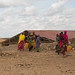 Girls in Jigjiga, Jila Alu Kebele on their way to fetch water from the nearby water point which is recently started by UNICEF/Ethiopia.