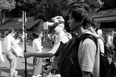 (lemonhats) Tags: olympusmjupanorama olympus3535 classiccamera vintagecamera automatic autofocus 35mmcompact primelens wideprime iso100 35mmprintfilm blackandwhite traditionalphotography analoguephotography filmphotography filmisalive shootfilm fpper homedevelopment kodakd76 walking tokyoto japan candid yoyogipark shibuyaku