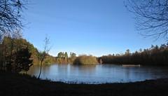 6303 Frozen lake - Llyn Parc Mawr (Andy - Busyyyyyyyyy) Tags: 20161204 bbb blue fff frozenlake ice iii lake lll llynparcmawr skies sss water www