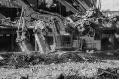 CrestWoodMallDemolition_SAF7453-2 (sara97) Tags: constructionequipment crestwoodmall demolition heavyequipment missouri outdoors photobysaraannefinke saintlouis bw blackandwhite blackwhite copyright©2016saraannefinke