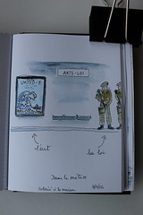 Sketchbook 16 (chando*) Tags: croquis sketch urbansketching metro underground militaires military soldats soldiers aquarelle watercolor
