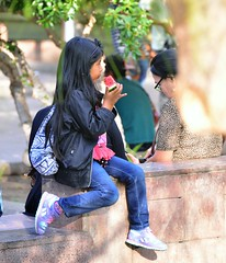 Snack Time! (Ctuna8162) Tags: antofagasta chile sitting seated sandia watermelon kid girl eating afternoon mercados