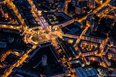 _4LN1391 : Place de Strass.. (Brestitude) Tags: city night brittany place bretagne aerial breizh strasbourg brest nuit ville urbain éclairage finistere aérien brestitude ©laurentnevo